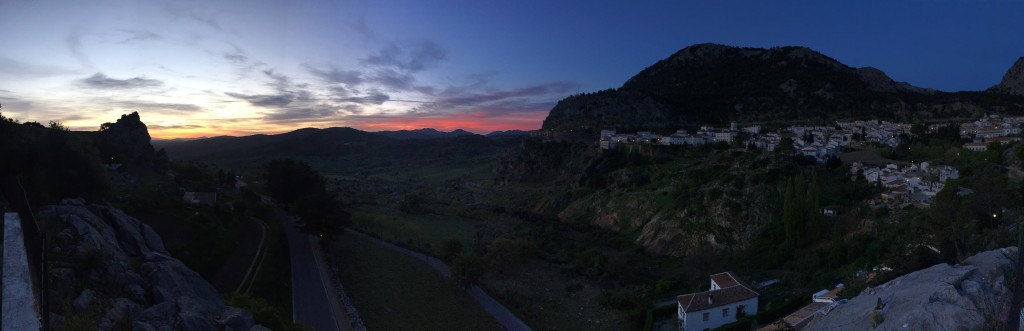 Sunrise over the Sierra de Grazalema.